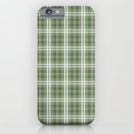 Spring 2017 Designer Color Kale Green Tartan Plaid Check iPhone Case