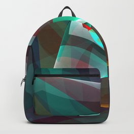 Visual impact, modern fractal abstract Backpack
