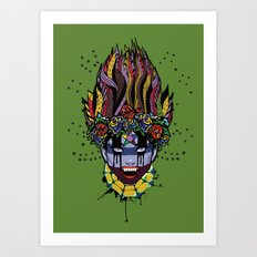 Mystical Feg the Vampire Priestess  Art Print