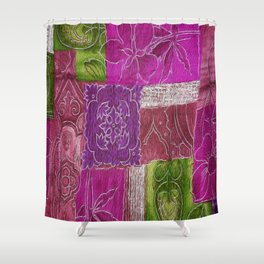 Boho Patchwork Floral Shower Curtain