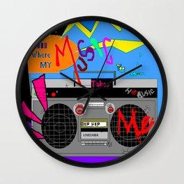 Where My Music Takes Me  Wall Clock