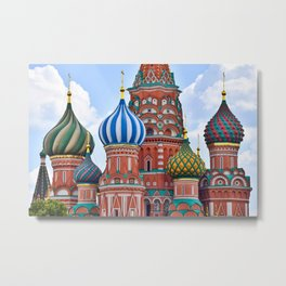 Domes Of St. Basil Metal Print