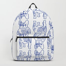 Floral Frenchies Backpack