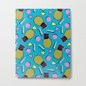 Primo - memphis retro throwback 1980s 80s neon style pop art wacka designs pineapple tropical fruit by wacka
