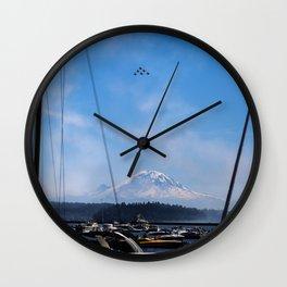 Angels Over Rainier Wall Clock