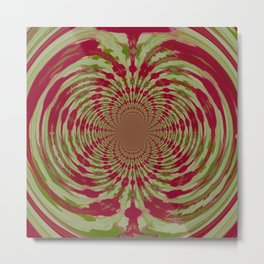 Abstract, Pink, White, Green (CA17077K) Metal Print