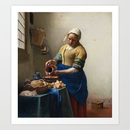 The Milkmaid And The Cat Art Print