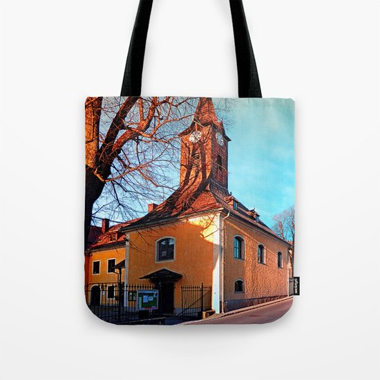 The village church of Waxenberg Tote Bag