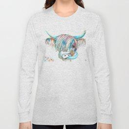 Highland Cattle full of colour Long Sleeve T-shirt