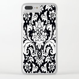 Damask Paisley Black and White Paisley Pattern Vintage Clear iPhone Case