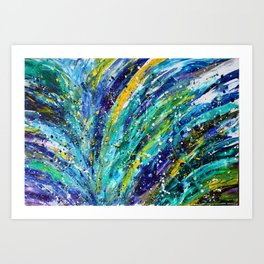 Midnight in Paris Abstract Painting Art Print