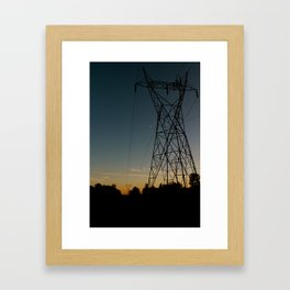 Industrial Sunset Framed Art Print