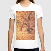 new york city T-shirts featuring Autumn - New York City by Vivienne Gucwa