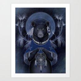 North american black bear Art Print