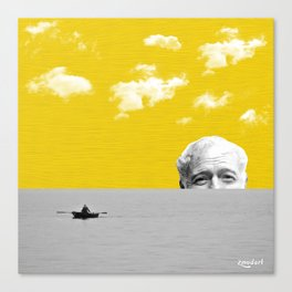 Ernest Hemingway | Old man and the Sea | Digital Collage Art Canvas Print