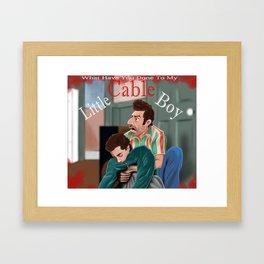 Little Cable Boy Framed Art Print