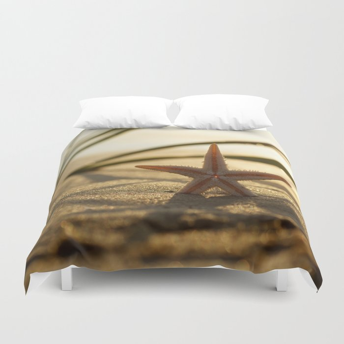 Starfish Still life on the beach Duvet Cover