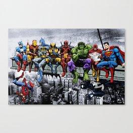 Superhero Lunch Meetup Canvas Print