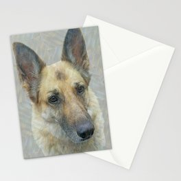 Unconditional Love Holly German Shepard Stationery Cards