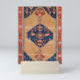 Bijar Kurdish Northwest Persian Rug Print Mini Art Print