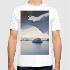 Ocean and Forest MEDIUM White Mens Fitted Tee