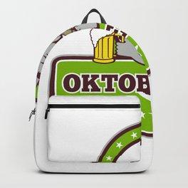 Donkey Beer Drinker Oktoberfest Retro Backpack