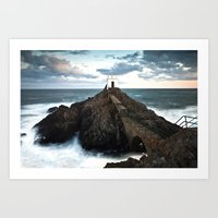 Jerbourg point Art Print