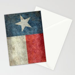 Texas state flag, vintage banner Stationery Cards