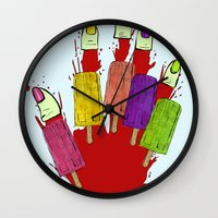 dexter Wall Clocks featuring DEXTER by Gianluca Floris