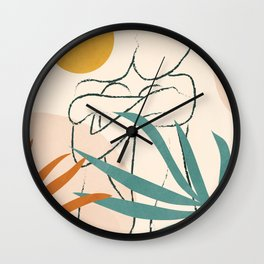 Minimal Line in Nature I Wall Clock