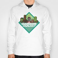 guardians of the galaxy Hoodies featuring Guardians of the Galaxy by Casa del Kables