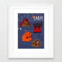 cabin Framed Art Prints featuring CABIN by Bex Bourne