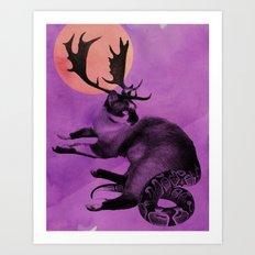 Catelope! Art Print
