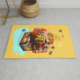 TRAVEL WITH ROSES Rug