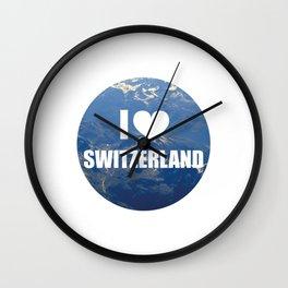 I Love Switzerland Wall Clock