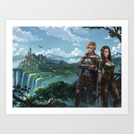 Royal Magic KM Shea Cover Illustration Art Print