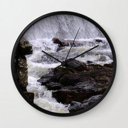 Lowell Tannery Hydro Dam Spring Rush Wall Clock