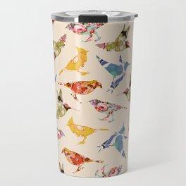 Vintage Wallpaper Birds Travel Mug