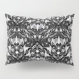 Bats And Beasts - Black and White Pillow Sham