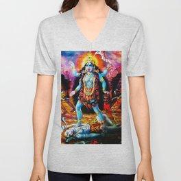 Hindu Kali 19 Unisex V-Neck