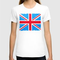british flag T-shirts featuring Rough And Worn British Union Jack Flag by Mark E Tisdale