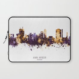 Ann Arbor Michigan Skyline Laptop Sleeve