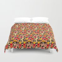 frida Duvet Covers featuring Frida by Bouffants and Broken Hearts