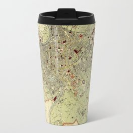 Map Of Rome 1882 Travel Mug