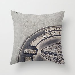 Alien Iron Works Throw Pillow