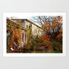 Somewhere in Rhode Island - Abandoned Mill 001  Art Print