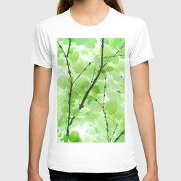 Under the Trees in a Summer Rainstorm  #decor #society6 #buyart T-shirt