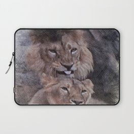 Lions in Love Laptop Sleeve