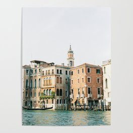 Travel photography   Architecture of Venice   Pastel colored buildings and the canals   Italy Poster