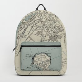Vintage Gijon Spain Map (1943) Backpack
